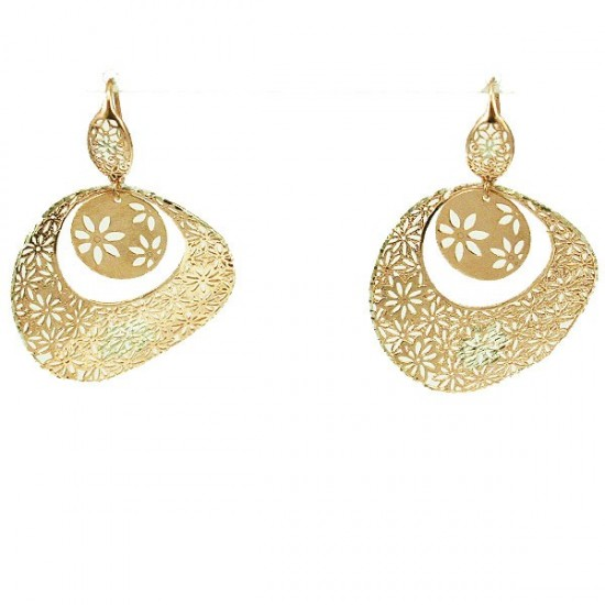 Silver earrings with rose gold plated