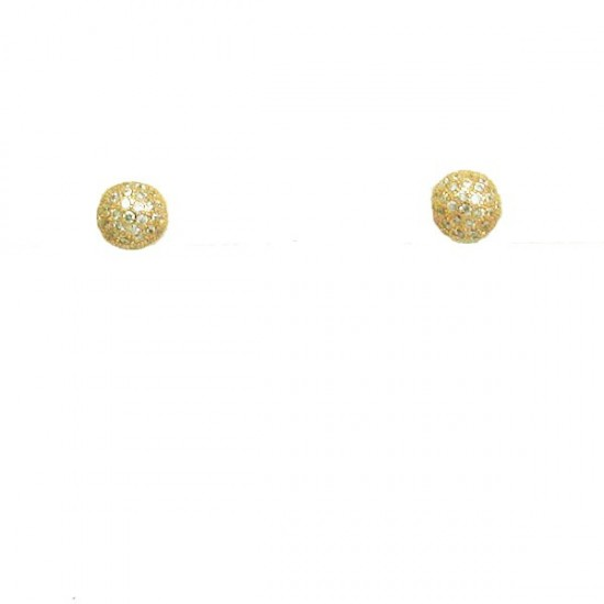 Silver earrings rose gold plated and white zircons