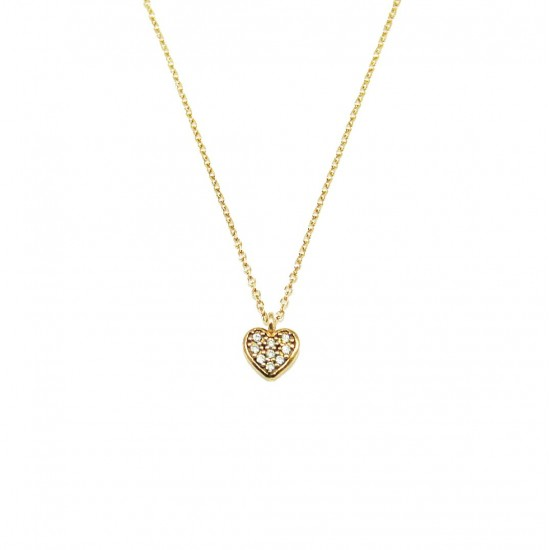 Rose gold necklace K9 black platinum and white zircons Chain lenght 40cm