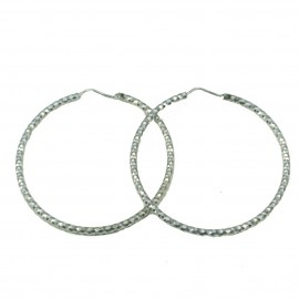 Silver earrings platinum and handcrafted