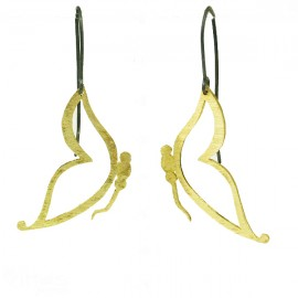 Silver earrings handmade and gold plated