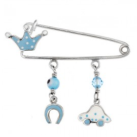 Children's nanny sterling silver platinum and enamel items