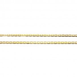 Gold chain K14 length 44cm and weight 2,40gr