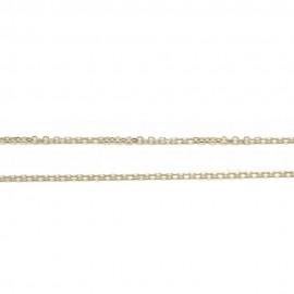 Καδένα λευκόχρυση Κ14 μήκος 50cm και βάρος 2,1gr
