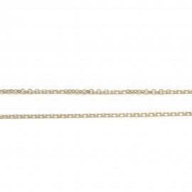 White-gold chain K14 length 50cm and weight 2,1gr