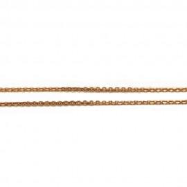 Καδένα ροζ-χρυσό Κ14 μήκος 44cm και βάρος 2,25gr