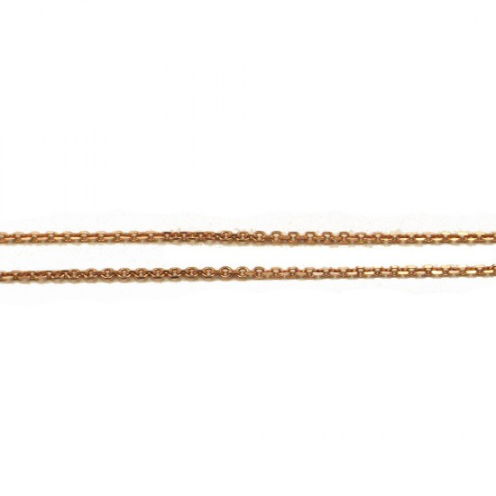 Rose gold chain K14 length 44cm and weight 2,25gr