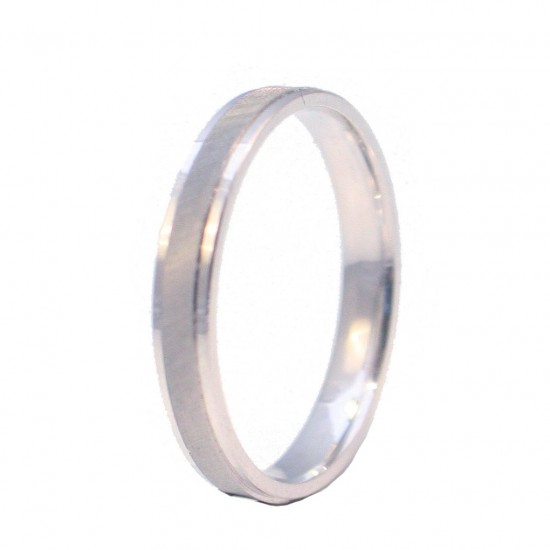 White gold wedding rings K14 or engagement monochrome or two-color in a wide selection of color and anatomical choice
