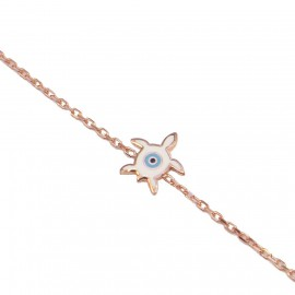 Silver bracelet rose gold-plated and enamel item