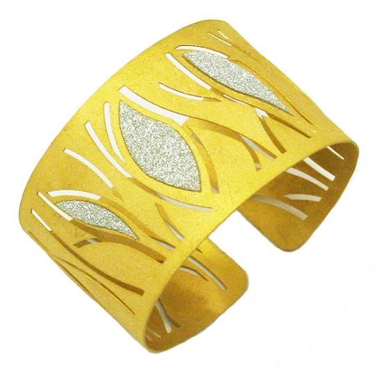 Silver bracelet goldplated