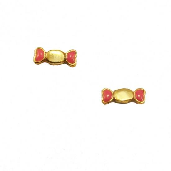 Children's gold earrings 14K with enamel item