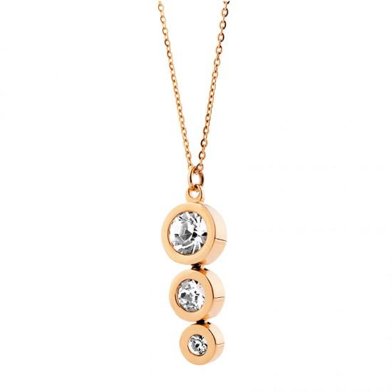Κολιέ από ανοξείδωτο ατσάλι EL122-1965 - Vittas Jewels fd63d7fb020