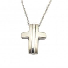 Stainless steel men cross