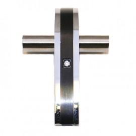 Σταυρός ανδρικός από ανοξείδωτο ατσάλι δίχρωμος