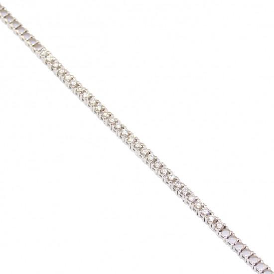 Βραχιόλι ριβιέρα λευκόχρυση Κ18 με διαμάντια κοπής μπριγιάν συνολικού βάρους 8,52gr carat weight 0,78ct χρώματος H καθαρότητας V