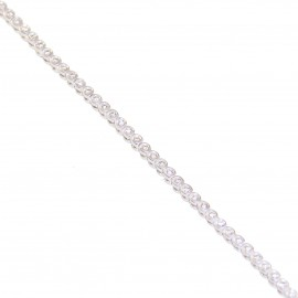 Κ18 white gold tennis bracelet with 96 diamonds carat weight 0.48ct color F clarity grade VS1 cut grade excellent