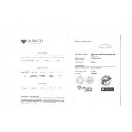 Βραχιόλι ριβιέρα λευκόχρυση Κ18 με διαμάντια RE007