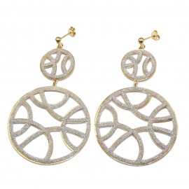 Silver earrings goldplated