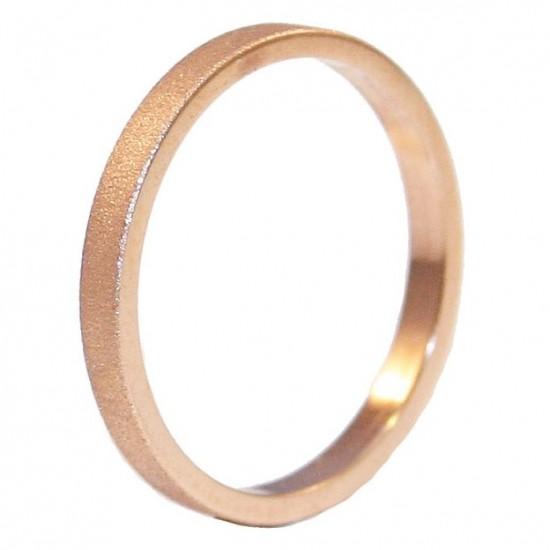 Βέρες ροζ χρυσό Κ14 γάμου ή για αρραβώνα με διαμαντάρισμα και λουστραριστή σε μεγάλη ποικιλία με επιλογή χρώματος και ανατομικές