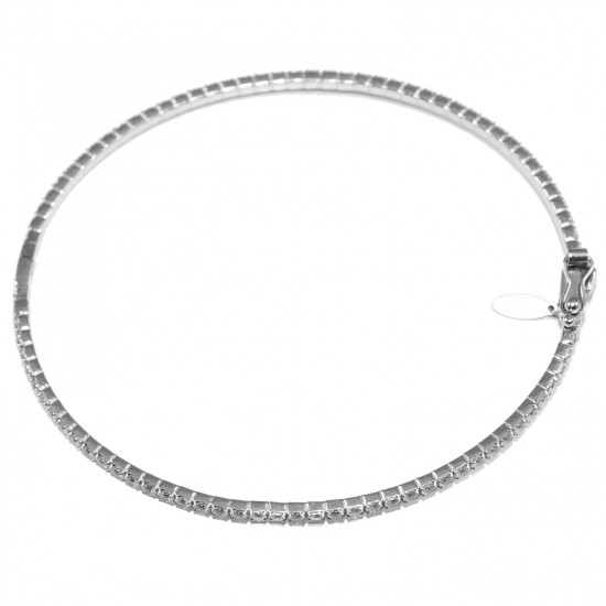 White-gold bracelet K14 with white zircons