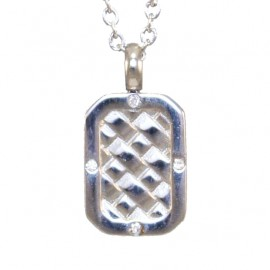 Men's pendant plate made of stainless steel and chain 45-50cm