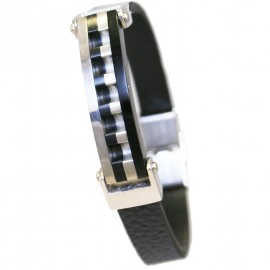 Stainless steel men handcuff with leather strap Suitable for all wrists