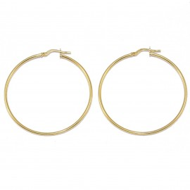 Silver earrings gold-plated rings with a diameter of 44mm