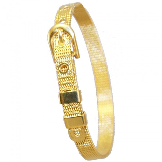 Stainless steel belt design bracelet with gold color SB 695