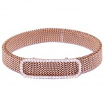 Rose gold K9 bracelet with white zircon and stainless steel body M470