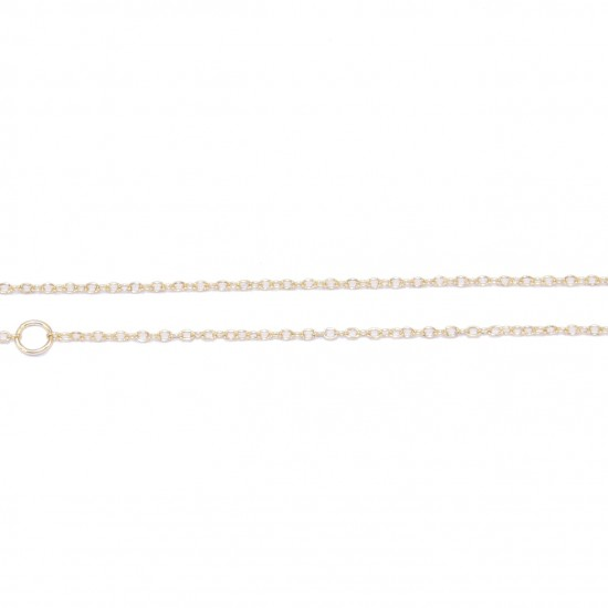 Silver chain in colors white, yellow and pink gold Length 55cm and loop to 45 and 40 points to fit the length of your choice