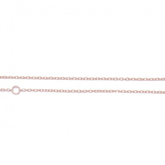 Silver chain in colors white, yellow and rose gold Length 55cm and Ring at 45 and 40 points to fit the length of your choice
