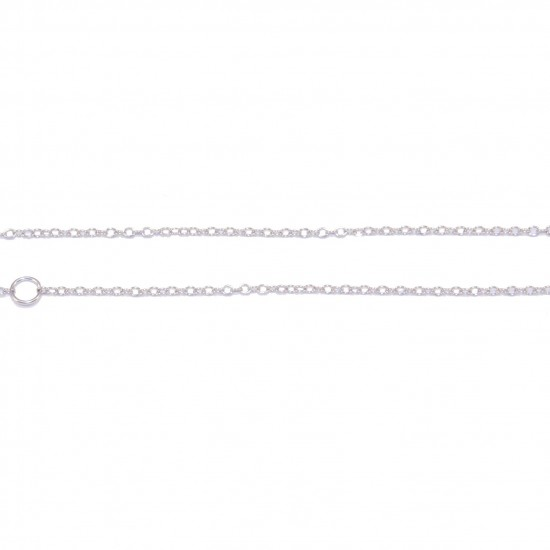 Silver chain in colors white, yellow and rose gold