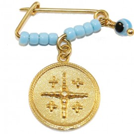 Children's nannies silver gold-plated with double face print for baptism