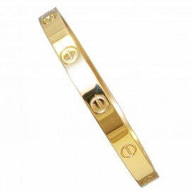 Stainless steel bracelet in gold color SB511