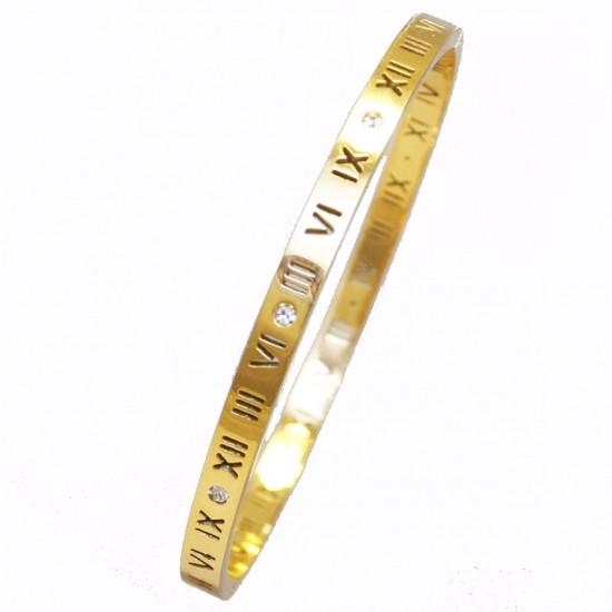 Βραχιόλι από ανοξείδωτο ατσάλι σε χρώμα χρυσό SB1158