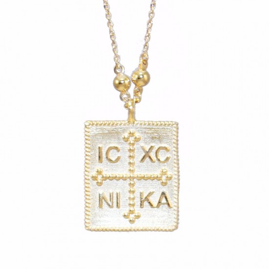 Gold K14 necklace with chain length 50cm 2834K