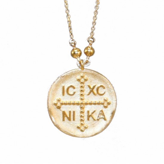 Gold K14 necklace with chain length 50cm 2935K