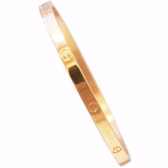 Βραχιόλι από ανοξείδωτο ατσάλι σε χρώμα ροζ χρυσό SB763