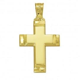 Σταυρός χρυσός Κ14 βαπτιστικός η για αρραβώνα για αγόρι
