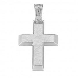 Cross platinum K14 lacquer on the sides and carved on the face for baptism or for engagement2441