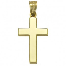 Cross gold K14 classic lustrous for baptism or for engagement 2943