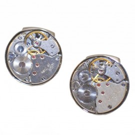 Stainless steel men cufflinks with clock design MAT109