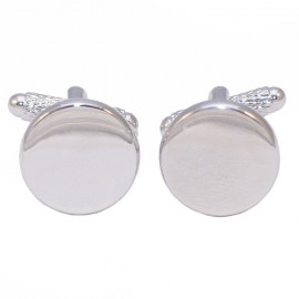 Men's Cufflinks made of stainless steel in white round color MAT123