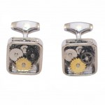 Men's Cufflinks with Stainless Steel Gear Mechanism MAT66