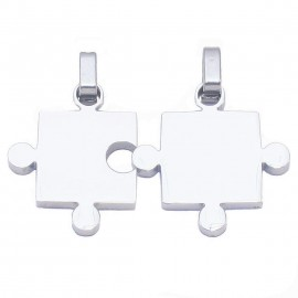 Stainless steel puzzle pendant for boy and girl my other half SP948