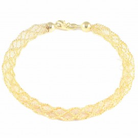 "Gold bracelet K14 ""sock"" type U68680"