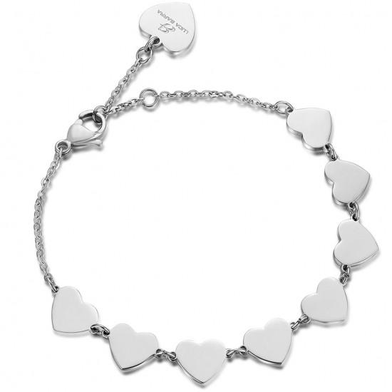 Stainless steel bracelet with heart design BK1740