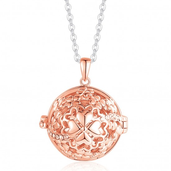 Necklace made of stainless steel the call of angels with pink four-leaf clover Length of chain CK1326