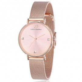 Steel watch in rose gold color Frame 32 mm Miyota mechanism BW208
