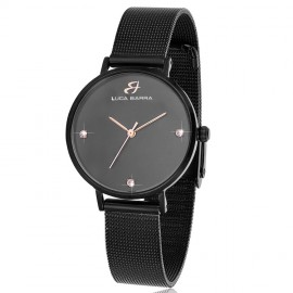 Bracelet steel watch with black plate BW209